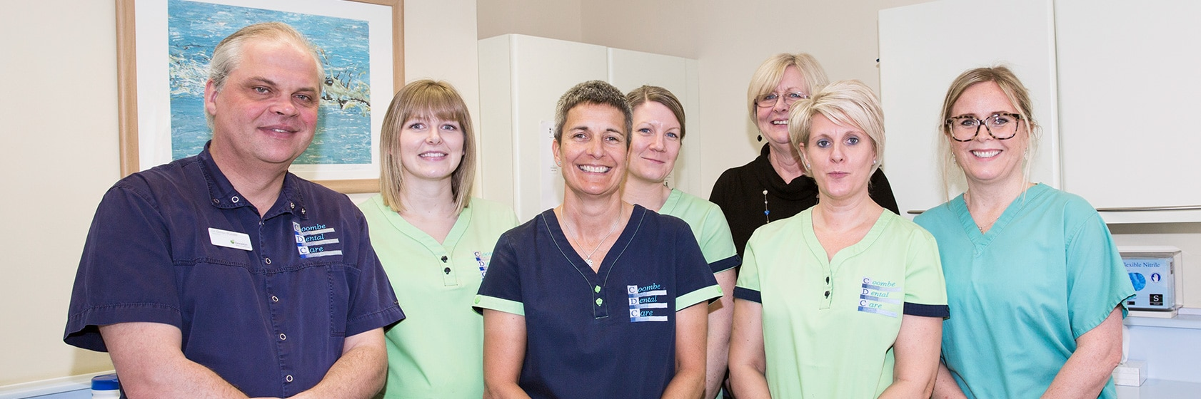 Coombe Dental Care staff group pic